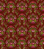 Seamless Damask. Floral background pattern with flowers. Vector illustration Royalty Free Stock Photos
