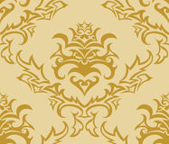 Seamless damask background Stock Photo