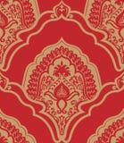 Seamless damask background. Vector illustration of seamless damask pattern Stock Photo