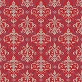 Seamless damask background. Vector illustration of seamless damask pattern Royalty Free Stock Photos