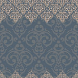 Seamless damask background Stock Photos