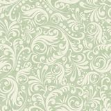 Seamless Damask background in the style of green stock illustration