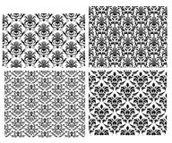 Seamless damask backgrounds set. Damask seamless vector backgrounds set.  For easy making seamless pattern just drag all group into swatches bar, and use it for Royalty Free Stock Images