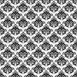 Seamless damask black background Stock Photo