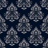 Seamless damask black pattern Royalty Free Stock Photo