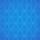 Seamless Damask Blue Pattern Background. Seamless Blue Damask Pattern Background, Vector, Illustration, Eps File stock illustration