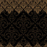 Seamless damask border Royalty Free Stock Images