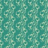 Seamless damask carpet pattern. Vintage  illustration Print Royalty Free Stock Photo