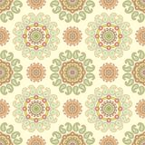 Seamless paisley damask decor Royalty Free Stock Image
