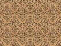Seamless Damask Design Stock Photography