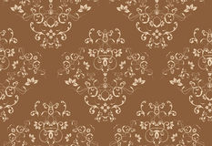Seamless Damask Design Stock Photo
