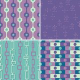 Seamless Damask Digital Pattern - Blue, Purple, Red, Orange, and Green Stock Image
