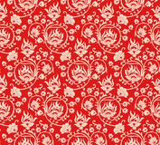 Seamless damask fancy floral wallpaper Royalty Free Stock Photography