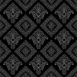 Seamless damask floral geometric Wallpaper Stock Photos