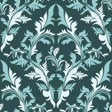 Seamless damask floral Ornament - color combination. Stock Photography