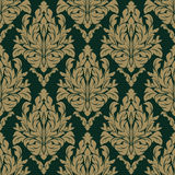Seamless damask floral Pattern on the dark Background Royalty Free Stock Photo