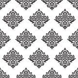 Seamless damask floral pattern Stock Photos
