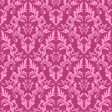 Seamless damask floral Pattern in shades of pink. Royalty Free Stock Photo