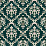 Seamless damask floral Wallpaper for Design Stock Images