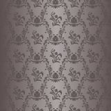 Seamless damask floral Wallpaper in grey Colors Stock Photos