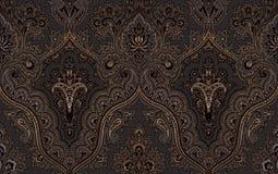 Seamless damask gold patterns. Rich ornament, old Damascus style gold pattern