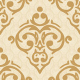Seamless damask golden background Stock Image