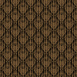 Seamless damask golden background Royalty Free Stock Photo
