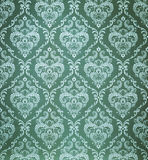 Seamless damask green wallpaper Royalty Free Stock Photography