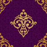 Seamless damask luxury background Stock Images