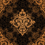 Seamless damask luxury background Royalty Free Stock Photography
