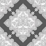 Seamless damask ornamental background for wallpapers Stock Photography