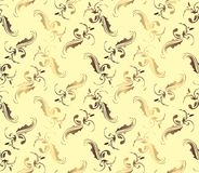 Seamless damask ornamental Wallpaper Royalty Free Stock Image