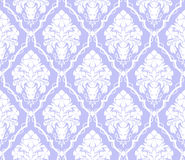 Seamless damask ornamental Wallpaper with flowers Bouquet Royalty Free Stock Photos