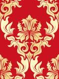 Seamless damask pattern stock illustration