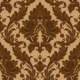 Seamless damask pattern. Vector seamless pattern(can be repeated and scaled in any size Stock Photos