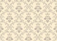 Seamless damask pattern royalty free stock photo