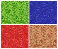 Seamless damask pattern. Seamless damask background - 4 color Royalty Free Stock Photo