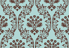 Seamless damask pattern. Damask seamless vector background.  For easy making seamless pattern just drag all group into swatches bar, and use it for filling any Stock Image