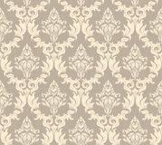 Seamless damask pattern. Damask seamless vector background.  For easy making seamless pattern just drag all group into swatches bar, and use it for filling any Stock Photo