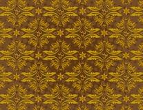 Seamless Damask Pattern. Beautiful brown seamless damask pattern Royalty Free Stock Photos