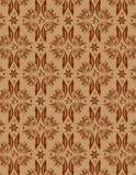 Seamless Damask Pattern. Beautiful brown seamless damask pattern Stock Photo