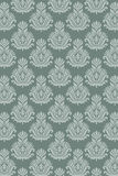 Seamless damask pattern aqua Royalty Free Stock Photo