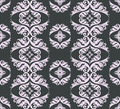 Seamless damask pattern background. Gray and pink Stock Images