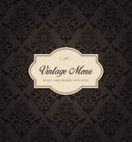 Seamless Damask Pattern Background Menu Vector Stock Photography