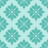 Seamless damask pattern in blue colors. Vector background Royalty Free Stock Photos