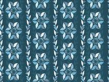 Seamless damask pattern in dark blue. Stock Photos
