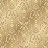 Seamless damask pattern. Damask seamless pattern for design. Vector Illustration stock illustration