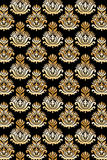 Seamless damask pattern gold Stock Photography