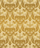 Seamless damask pattern gold Royalty Free Stock Images