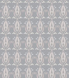 Seamless damask pattern. Seamless illustrated damask pattern made of floral elements in shades of grey stock illustration